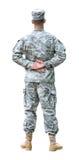Het Legermilitair van de V.S. in Paraderust positie. royalty-vrije stock afbeelding