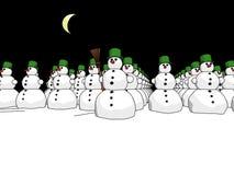 Het legernacht van Snowmans Royalty-vrije Stock Afbeelding
