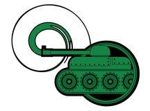 Het legerpictogram van de tank Stock Afbeeldingen