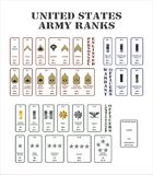 Het legerrangen van de V.S. Royalty-vrije Stock Fotografie