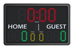 Het LEIDENE Scorebord van Multisports Royalty-vrije Stock Afbeelding