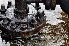 Het lek van de olie Stock Foto's