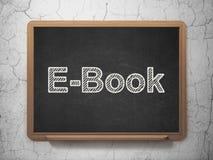 Het leren concept: EBook op bordachtergrond Royalty-vrije Stock Foto's
