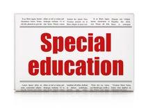 Het leren concept: het Speciale Onderwijs van de krantenkrantekop Stock Afbeelding