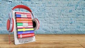 Het leren e -e-boock online 3d de talen geven op gradiëntsucces terug Stock Afbeeldingen