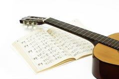 Het leren gitaar Stock Foto