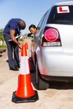 Het leren parkauto Royalty-vrije Stock Fotografie