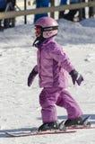 Het leren te skien Stock Foto