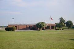 Het Leren van Arkansas de Vroege Centrumbouw, Jonesboro, Arkansas stock afbeeldingen