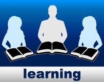 Het leren van Boeken toont School Opleiding en Fictie stock illustratie