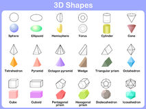 Het leren van de 3D vormen voor jonge geitjes Stock Foto