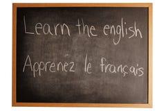 Het leren van een taal Stock Foto