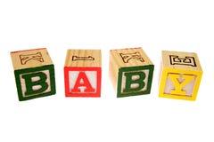 Het leren van het alfabet blokken Stock Foto