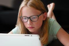 Het Leren van tabletpc Stock Afbeelding