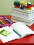 Het leren - wiskunde en het schrijven Royalty-vrije Stock Foto's