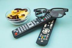 Het letten op het concept van TV Royalty-vrije Stock Afbeeldingen