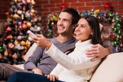 Het letten op Kerstmis toont samen Stock Foto's