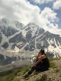 Het letten op sneeuwbovenkanten en gletsjers Royalty-vrije Stock Foto's