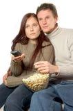 Het letten op TV Royalty-vrije Stock Foto