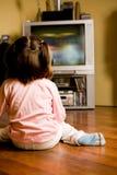 Het letten op TV Royalty-vrije Stock Foto's