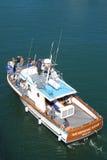 Het letten op van de walvis boot Stock Afbeeldingen