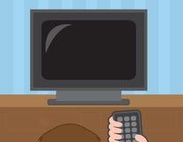 Het Letten op van TV Stock Fotografie
