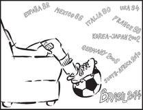 Het letten op voetbal Stock Afbeeldingen
