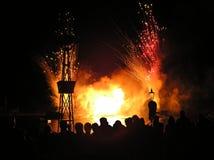 Het letten op Vuurwerk Stock Afbeelding