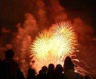 Het letten op vuurwerk Stock Fotografie