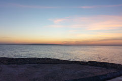 Het letten op zonsopgang op het Rood Stock Foto