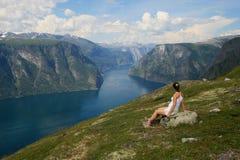 Het letten van de op fjord royalty-vrije stock foto