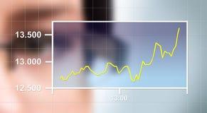 Het letten van de op Grafiek Stock Foto