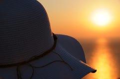 Het letten van de op zonsondergang Royalty-vrije Stock Foto