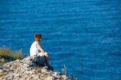 Het letten van de op Zwarte Zee Royalty-vrije Stock Foto's