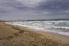 Het letten van een op onweer, Mallorca Spanje Stock Foto