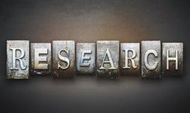 Het Letterzetsel van het onderzoekconcept Stock Afbeelding
