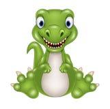 Het leuke beeldverhaal van de babydinosaurus Stock Afbeelding