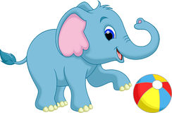 Het leuke beeldverhaal van de babyolifant Royalty-vrije Stock Foto
