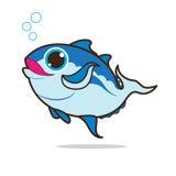 Het leuke beeldverhaal van tonijnvissen Stock Foto