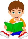 Het leuke boek van de jongenslezing vector illustratie