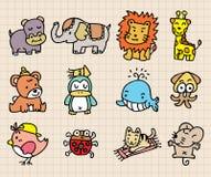 Het leuke dierlijke element, hand trekt pictogram Royalty-vrije Stock Foto's