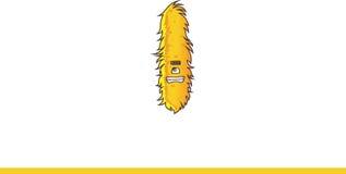 Het leuke gele Monster grijnzen Stock Afbeeldingen