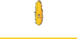 Het leuke gele Monster Grimassen trekken Stock Afbeelding