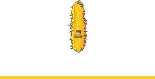 Het leuke gele Monster lachen Royalty-vrije Stock Afbeeldingen