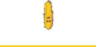 Het leuke gele Monster Schreeuwen Royalty-vrije Stock Afbeeldingen