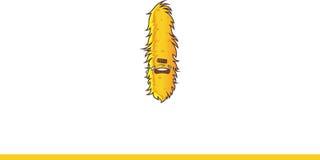 Het leuke gele Monster schreeuwen Royalty-vrije Stock Foto's