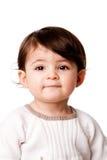 Het leuke gezicht van de babypeuter Stock Afbeelding