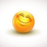 Het leuke glimlachen emoticon, emoji, smiley - vectorillustratie Stock Afbeelding
