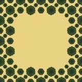 Het leuke grappige kader van de achtergrondpatroon vierkante grens vector illustratie