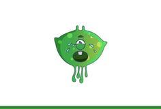 Het leuke groene monster Schreeuwen Stock Foto's